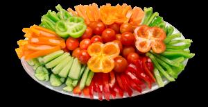 מגש ירקות ומטבל